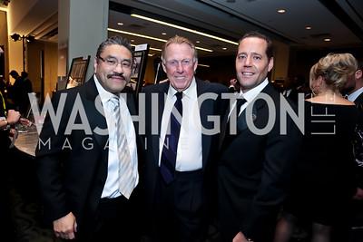 Bob Hisaoka, Dick Patterson, Gary Day. Photo by Tony Powell. 2014 Fight Night. Hilton Hotel. November 13, 2014