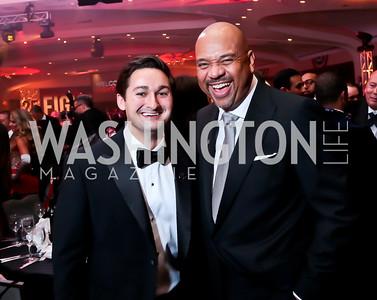 Zach Leonsis, Michael Wilbon. Photo by Tony Powell. 2014 Fight Night. Hilton Hotel. November 13, 2014