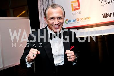 """Boxer Ray 'Boom Boom"""" Mancini. Photo by Tony Powell. 2014 Fight Night. Hilton Hotel. November 13, 2014"""