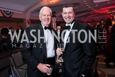 Jack Davies, Evan Burfield. Photo by Tony Powell. 2014 Fight Night. Hilton Hotel. November 13, 2014