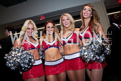 Washington Wizards Cheerleaders Michaela, Christie, Kelly, Leah. Photo by Tony Powell. 2014 Fight Night. Hilton Hotel. November 13, 2014