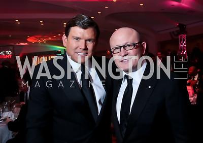 Brett Baier, Franco Nuschese. Photo by Tony Powell. 2014 Fight Night. Hilton Hotel. November 13, 2014