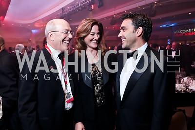 Kurt Newman, Pam King Sams, Antonio Monteiro. Photo by Tony Powell. 2014 Fight Night. Hilton Hotel. November 13, 2014