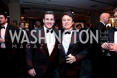 Kevin Plank, Tom Wu. Photo by Tony Powell. 2014 Fight Night. Hilton Hotel. November 13, 2014