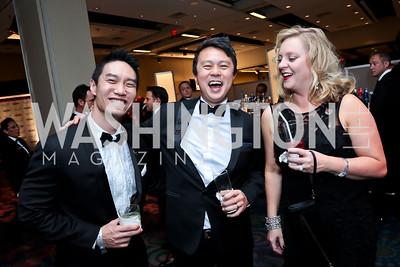 Danny Toh, Tom Wu, Linda Tiberi. Photo by Tony Powell. 2014 Fight Night. Hilton Hotel. November 13, 2014