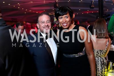 Fight Night Co-Chair Raul Fernandez, DC Mayor Elect Muriel Bowser. Photo by Tony Powell. 2014 Fight Night. Hilton Hotel. November 13, 2014
