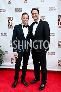 Jason Landau, Cheyenne Jackson. Photo by Tony Powell. 2014 Ford's Theatre Gala. June 22, 2014