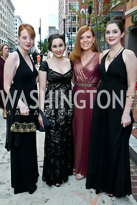 Cait Reizman, Jordan Marx, Kathleen Camarda, Rebecca Cassidy. Photo by Tony Powell. 2014 Ford's Theatre Gala. June 22, 2014