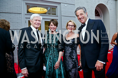 Fred and Marlene Malek, Marcia Carlucci, Paul Pelosi. Photo by Tony Powell. 2014 Ford's Theatre Gala. June 22, 2014