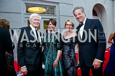 Fred and Marlene Malek, Marcia Carlucci, Paul Pelosi. Photo by Tony Powell. 2014 Ford's Theatre Gala. June 22, 2014