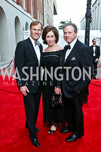 Ford's Theatre Director Paul Tetreault, Catherine and Wayne Reynolds. Photo by Tony Powell. 2014 Ford's Theatre Gala. June 22, 2014