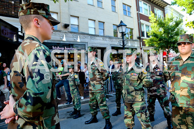 PFC Mason Warner and the Hanover Area Young Marines. Photo by Tony Powell. GI Film Festival. Old Town Theater. May 24, 2014