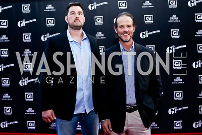 """Lone Survivor' Author Marcus Luttrell and Director Peter Berg. Photo by Tony Powell. GI Film Festival. Old Town Theater. May 24, 2014"