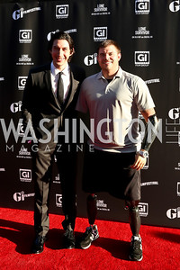 Adam Driver, Travis Mills. Photo by Tony Powell. GI Film Festival. Old Town Theater. May 24, 2014