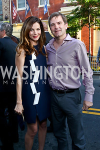 Actress Michelle Monaghan, Todd Flournoy. Photo by Tony Powell. GI Film Festival. Old Town Theater. May 24, 2014