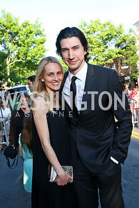 Joanne Tucker, Adam Driver. Photo by Tony Powell. GI Film Festival. Old Town Theater. May 24, 2014