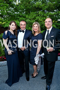 Hande Kassim and Shwan Kassim, Fariba and Reza Jahanbani. Photo by Tony Powell. 2014 Hillwood Gala. June 3, 2014