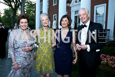 Gabrielle Bekink, Kate Markert, Amb. Amy Bondurant, Netherlands Amb. Rudolf Bekink. Photo by Tony Powell. 2014 Hillwood Gala. June 3, 2014