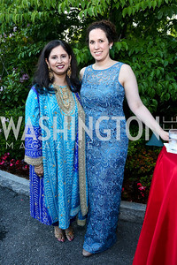 Sameena Merchant, Casey Wigglesworth. Photo by Tony Powell. 2014 Hillwood Gala. June 3, 2014
