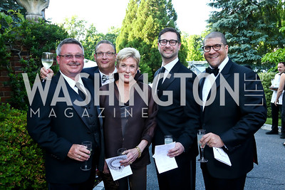 Jeffrey Love, John Edelmann, Penelope Holloway, Ken Hyle and Dale Mott. Photo by Tony Powell. 2014 Hillwood Gala. June 3, 2014