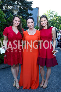 Nedenia Craig, Nina Rumbough, Welyn Craig. Photo by Tony Powell. 2014 Hillwood Gala. June 3, 2014