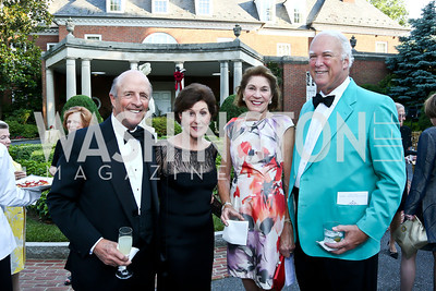 Buck and Sally Chapoton, Alice and Bruce Whelihan. Photo by Tony Powell. 2014 Hillwood Gala. June 3, 2014
