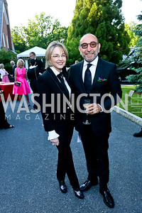 Mirella and Dani Levinas. Photo by Tony Powell. 2014 Hillwood Gala. June 3, 2014