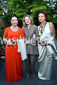 Nina Rumbough, Laura Denise Bisogniero, Aniko Gaal Schott. Photo by Tony Powell. 2014 Hillwood Gala. June 3, 2014