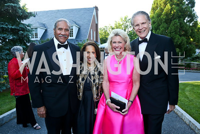 Togo and Gail West, Charlotte and Michael Buxton. Photo by Tony Powell. 2014 Hillwood Gala. June 3, 2014