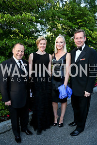 Brian Enright, Keeley Smith, Natasha Enright, John Grisham. Photo by Tony Powell. 2014 Hillwood Gala. June 3, 2014