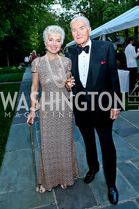Cindy and Ed  Stegemann. Photo by Tony Powell. 2014 Hillwood Gala. June 3, 2014