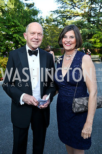 John Irelan, Amb. Amy Bondurant. Photo by Tony Powell. 2014 Hillwood Gala. June 3, 2014