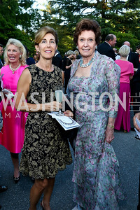 Barbara Price, Gabrielle Bekink. Photo by Tony Powell. 2014 Hillwood Gala. June 3, 2014