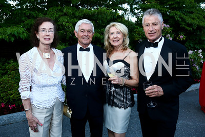 Fay Taylor, Dick Guild, Anne Marie Tighe, John Harman. Photo by Tony Powell. 2014 Hillwood Gala. June 3, 2014