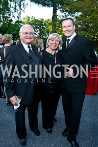 Jack Gansler, Leah Gansler, Barry Dixon. Photo by Tony Powell. 2014 Hillwood Gala. June 3, 2014