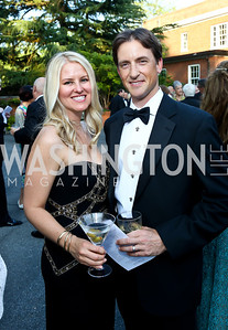 Whitney Case and Robert Kapla. Photo by Tony Powell. 2014 Hillwood Gala. June 3, 2014