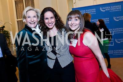 Nancy Rubin, Anna Blue, Rachel Gerrol. Photo by Tony Powell. 2014 International Women's Day Lunch. Mayflower Hotel. March 5, 2014