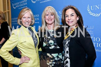 Kathy Calvin, Tipper Gore, Melissa Moss. Photo by Tony Powell. 2014 International Women's Day Lunch. Mayflower Hotel. March 5, 2014