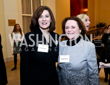 Vicki Kennedy, Elizabeth Stevens. Photo by Tony Powell. 2014 International Women's Day Lunch. Mayflower Hotel. March 5, 2014