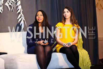 Tiffany Taylor, Sarah Gale. Photo by Tony Powell. 2014 International Women's Day Lunch. Mayflower Hotel. March 5, 2014