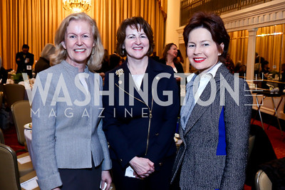 Irish Amb. Anne Anderson, Theresa Loar, Mary Catherine Toker. Photo by Tony Powell. 2014 International Women's Day Lunch. Mayflower Hotel. March 5, 2014