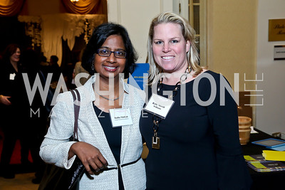 Radha Muthiah, Cathy Merrill Williams. Photo by Tony Powell. 2014 International Women's Day Lunch. Mayflower Hotel. March 5, 2014