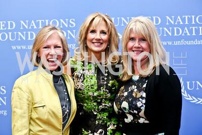 Kathy Calvin, Second Lady Dr. Jill Biden, Tipper Gore. Photo by Tony Powell. 2014 International Women's Day Lunch. Mayflower Hotel. March 5, 2014