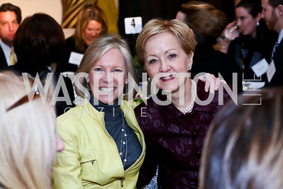 Kathy Calvin, Ann Stock. Photo by Tony Powell. 2014 International Women's Day Lunch. Mayflower Hotel. March 5, 2014
