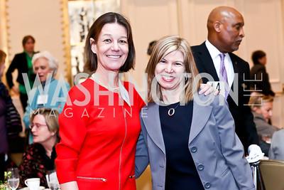 Tamera Luzzatto, Jill Biden's Chief of Staff Sheila Nix. Photo by Tony Powell. 2014 International Women's Day Lunch. Mayflower Hotel. March 5, 2014