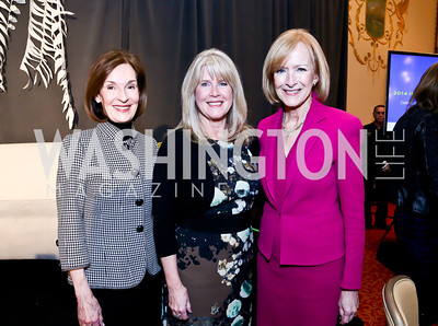 Donna McLarty, Tipper Gore, Judy Woodruff. Photo by Tony Powell. 2014 International Women's Day Lunch. Mayflower Hotel. March 5, 2014
