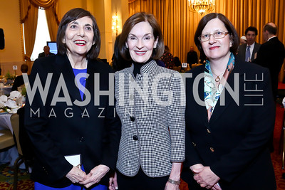 Pat Ellis, Donna McLarty, Anne Vasar. Photo by Tony Powell. 2014 International Women's Day Lunch. Mayflower Hotel. March 5, 2014