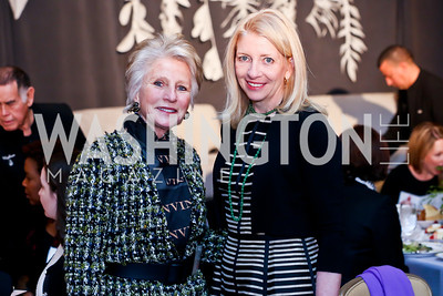 Jane Harman, Amb. Cathy Russell. Photo by Tony Powell. 2014 International Women's Day Lunch. Mayflower Hotel. March 5, 2014