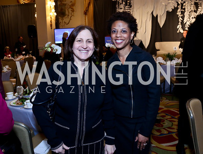 Ruth Marcus, Melody Barnes. Photo by Tony Powell. 2014 International Women's Day Lunch. Mayflower Hotel. March 5, 2014