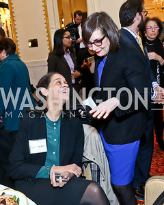 Gail Kitch, Pat Ellis. Photo by Tony Powell. 2014 International Women's Day Lunch. Mayflower Hotel. March 5, 2014